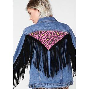 Dolls Kill Jackets & Coats - Roarin' Rockstar Denim Jacket